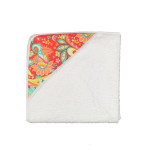Coral Paisley Baby Towel